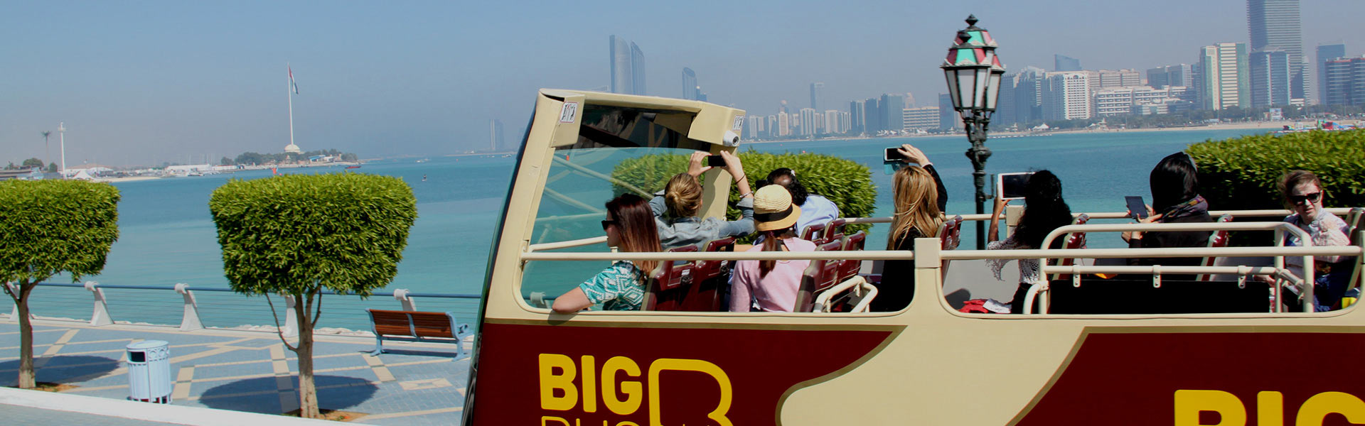 Passengers on Big Bus Abu Dhabi tour