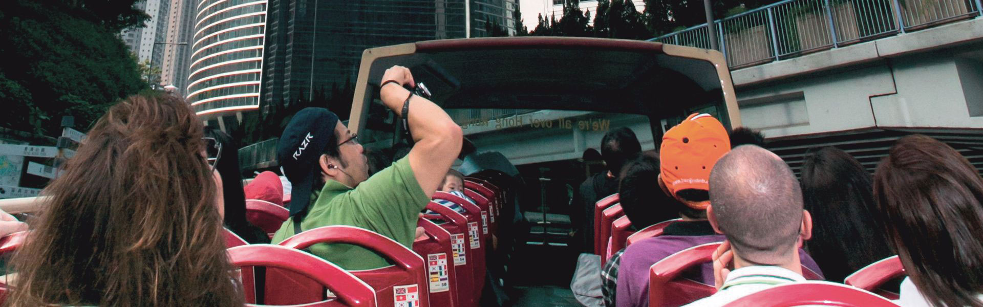 香港 Big Bus 上的乘客