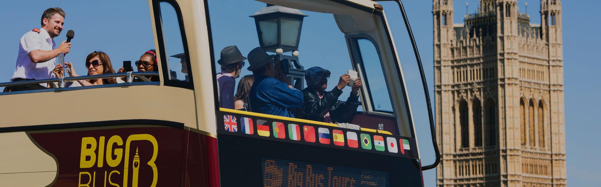 Big Bus open-top tour of London