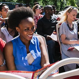 Passengers on Vienna bus tour