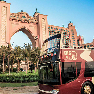 Big Bus passing Atlantis the Palm