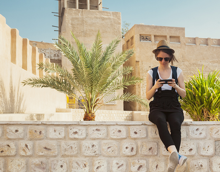 Lady sightseeing in Muscat