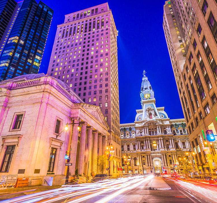 Philadelphia at night