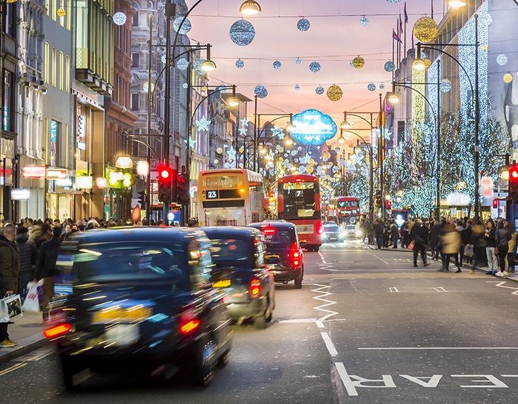 Eine Londoner Stadtszene