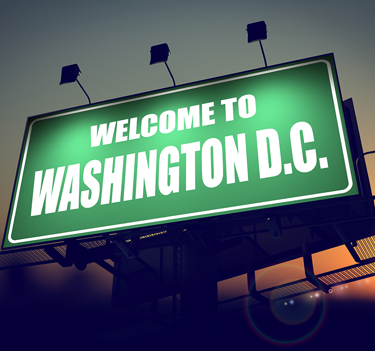 Welcome to Washington sign