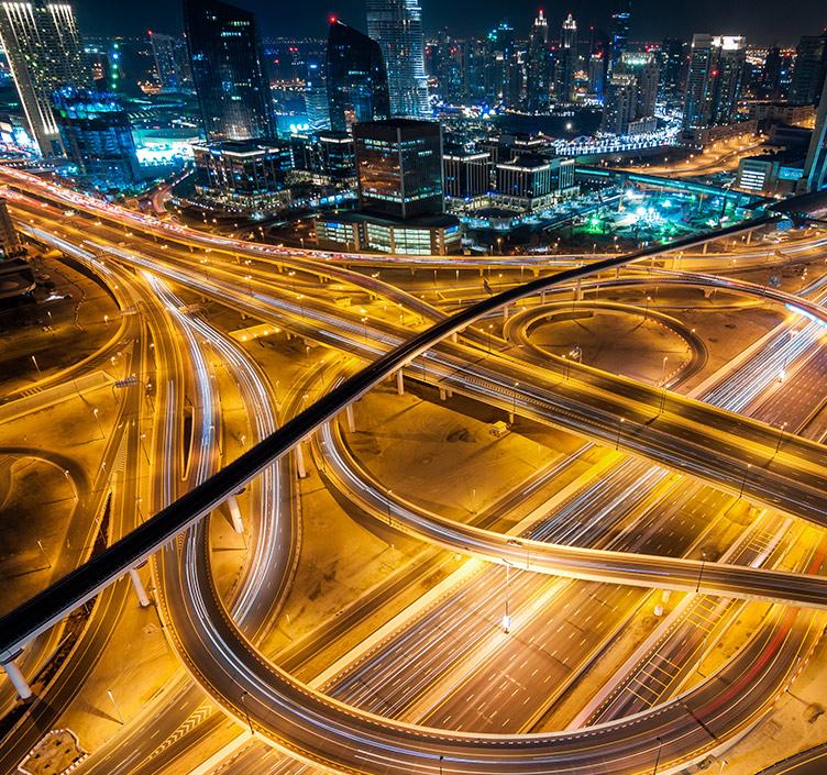 Hauptverkehrszeit in Abu Dhabi