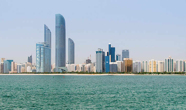 The Corniche in Abu Dhabi