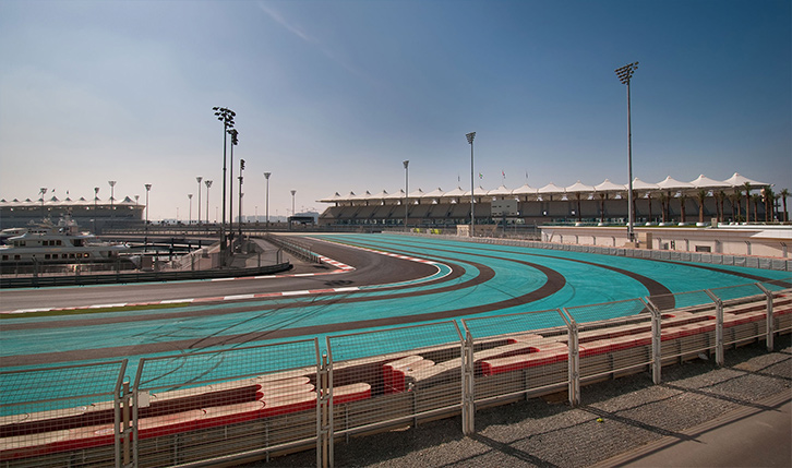 F1 racing track at Yas Island Abu Dhabi