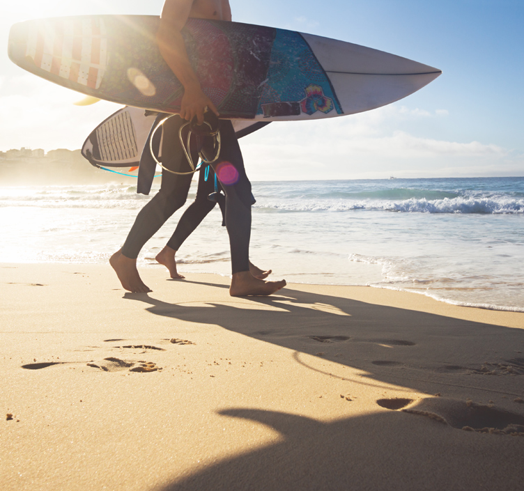 Surfers on Bondi Beach, Sydney