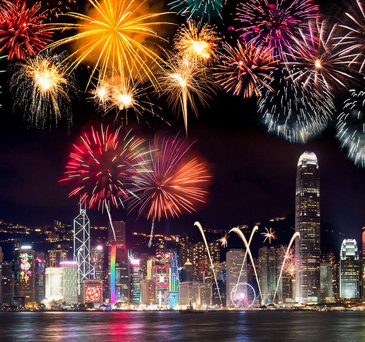 烟花在香港
