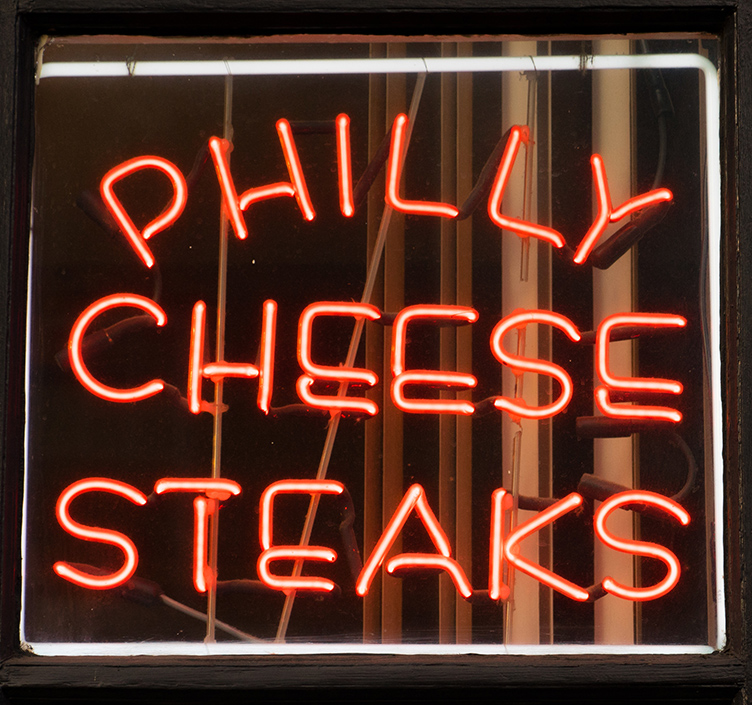 Philly Cheesesteak Sign