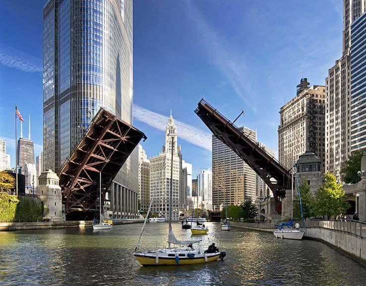 Michigan Avenue Bridge in Chicago