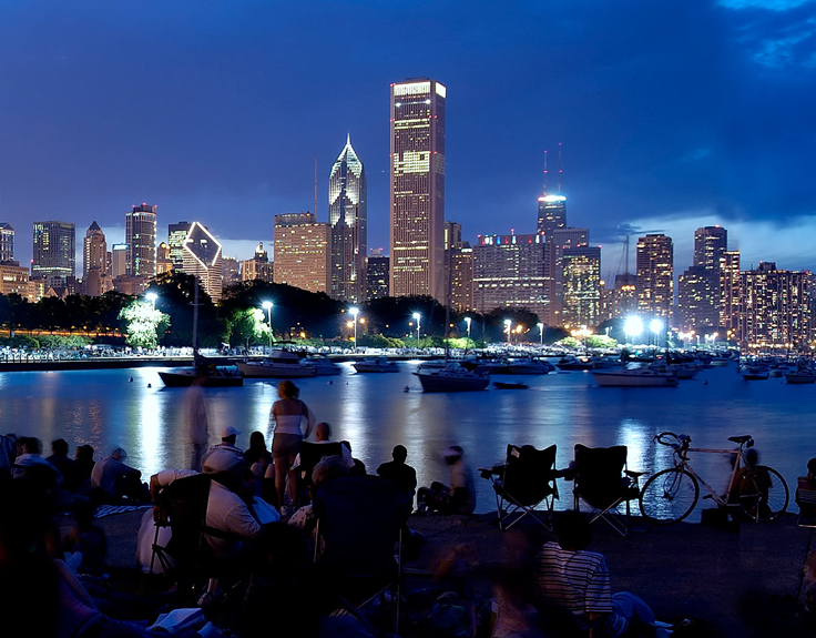 View of Chicago at Night