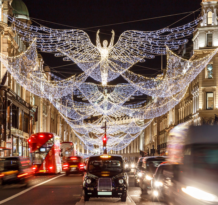 Regent's Street Christmas lights in London
