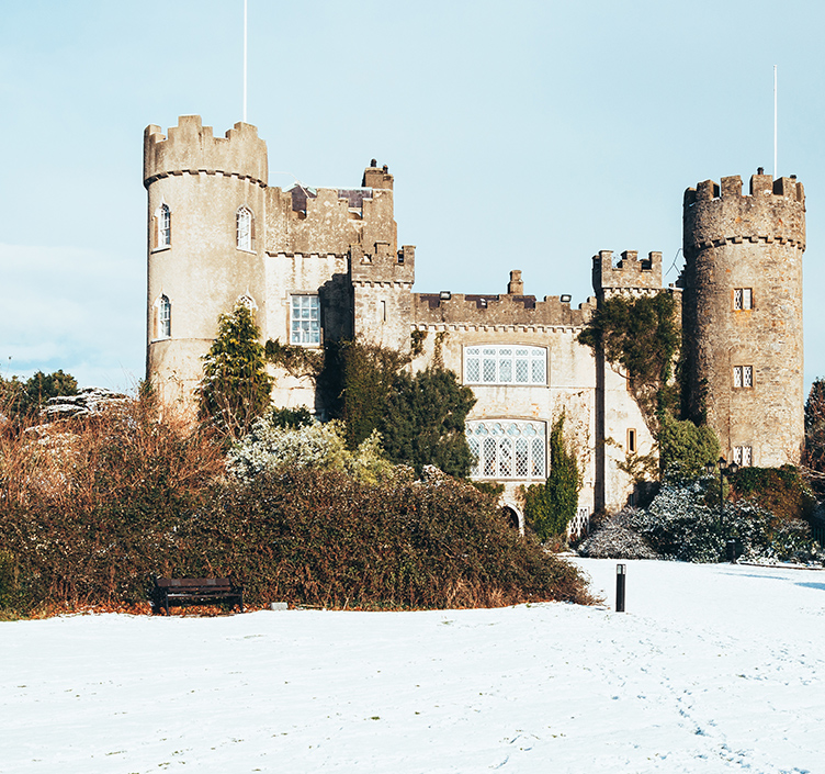 Castle in snow