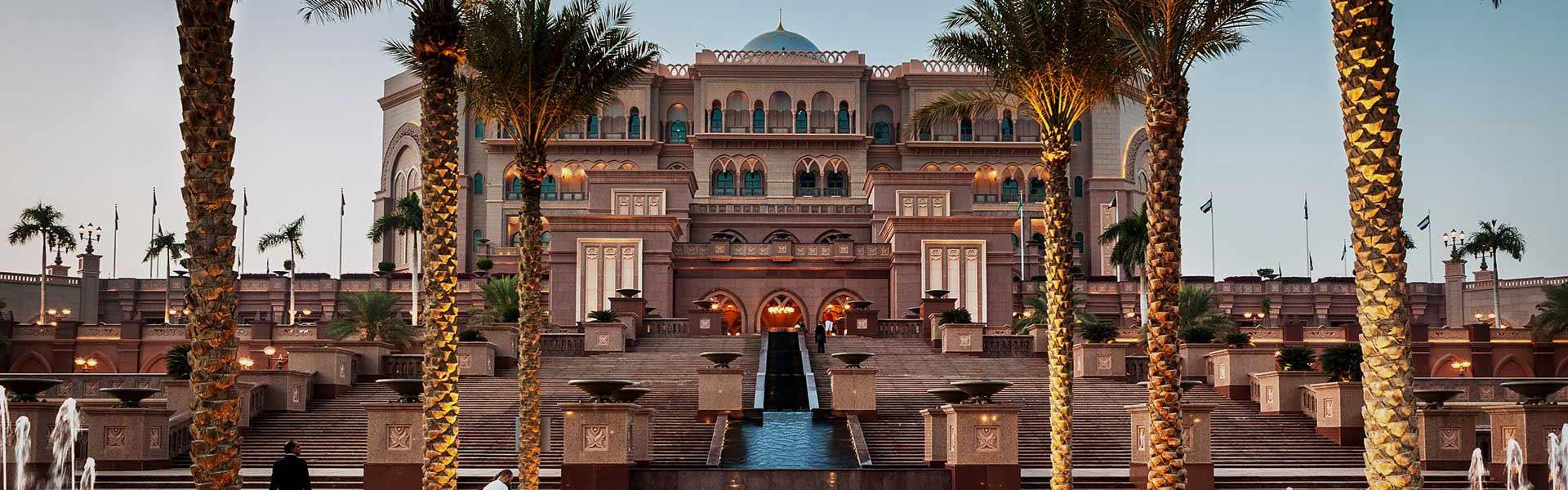 Emirates Palace Hotel in Abu Dhabi