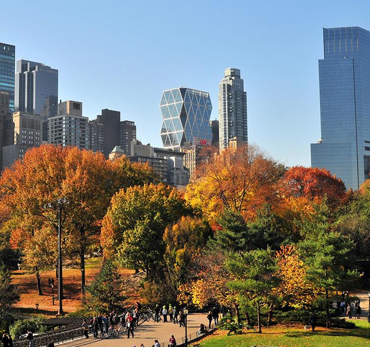 New York skyline with autumnal Central Park