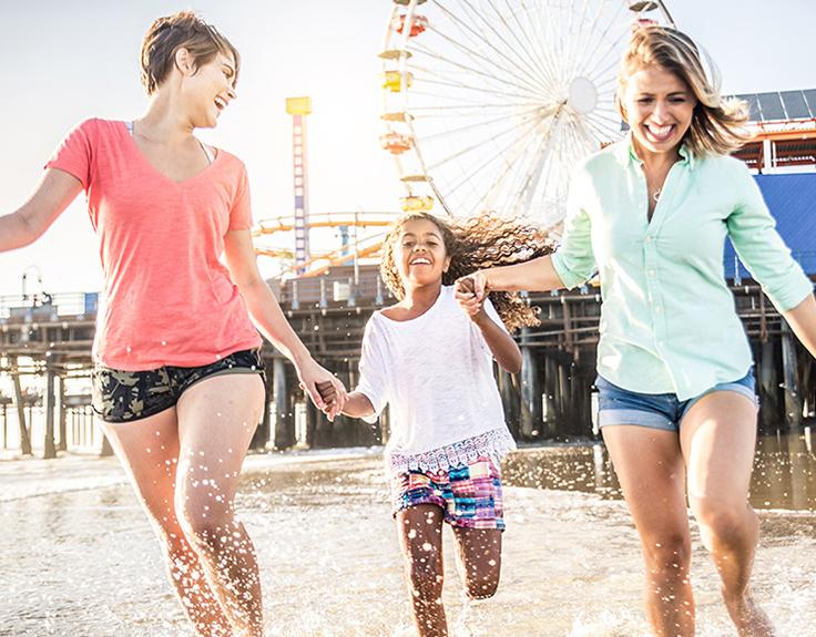Family fun at Santa Monica Pier