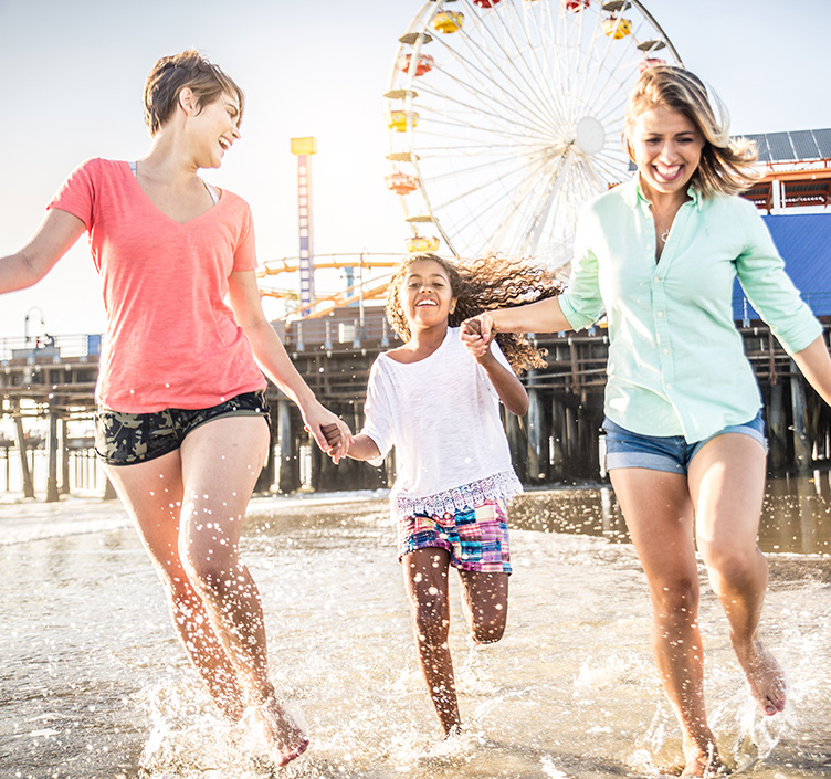 Family fun at Santa Monica Pier