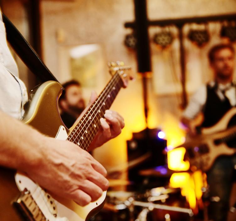 Band playing a gig