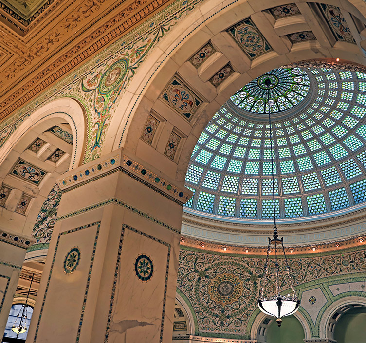The Chicago Cultural Center dome