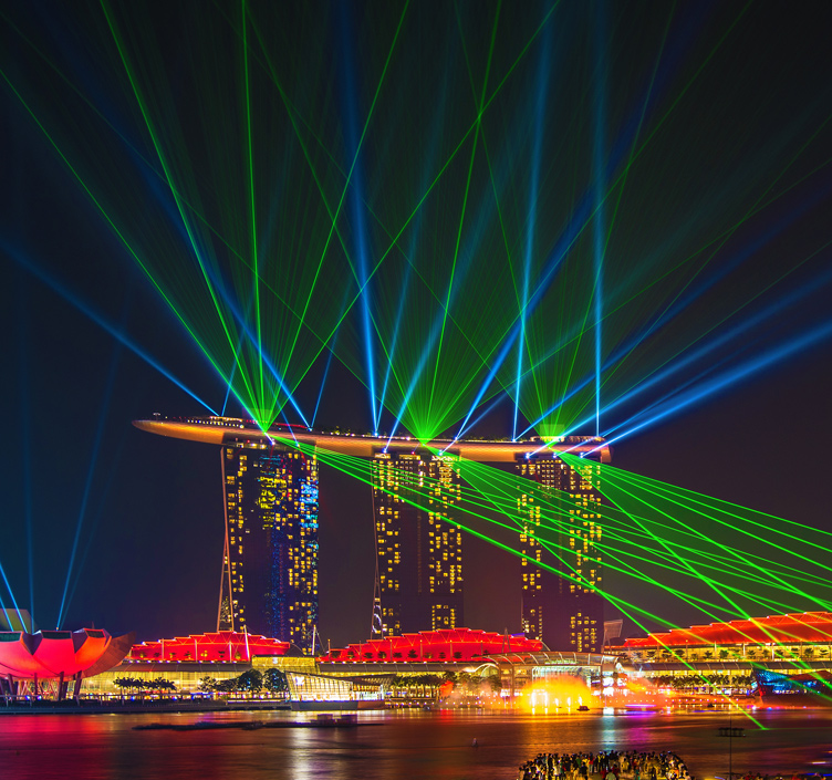 Spectra light show at the Marina Bay Sands in Singapore