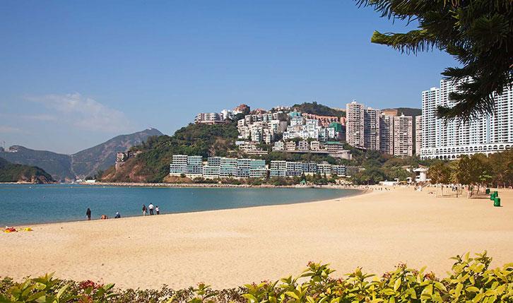 View of the beach at Repulse Bay Hong Kong