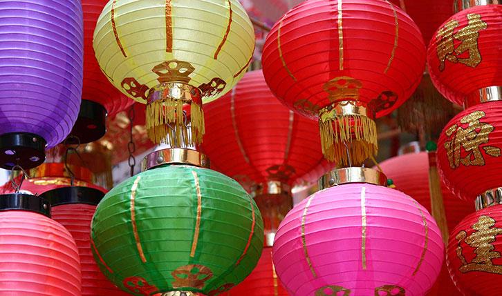 香港赤柱市场的中式灯笼