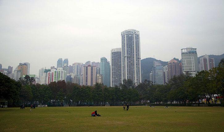 阴天的香港维多利亚公园