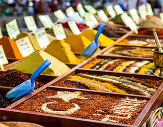 Spices at the Egyption Bazaar in Istanbul