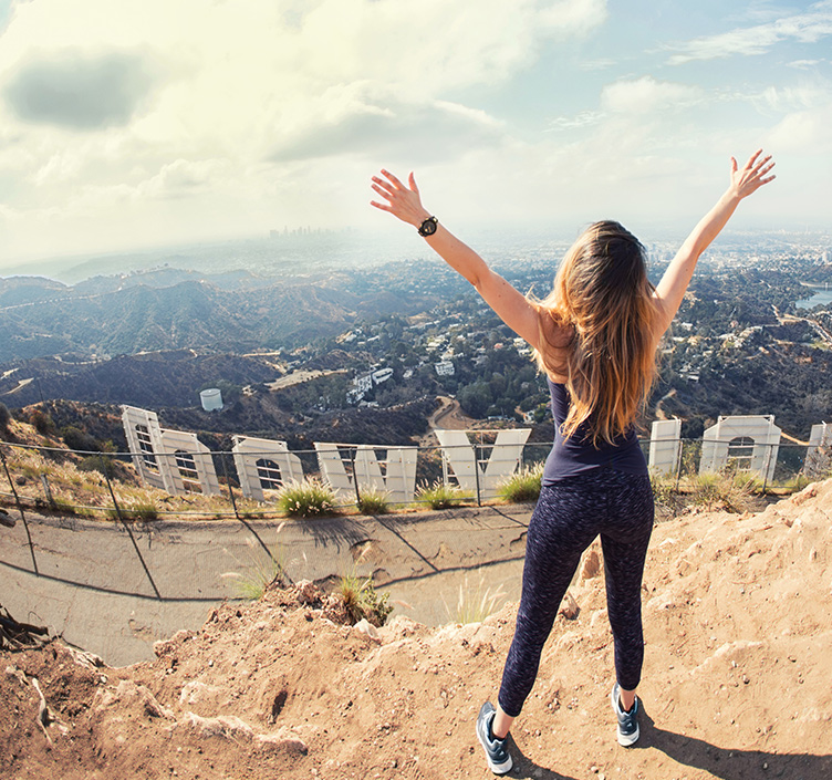 Teenager climbed Hollywood Hills