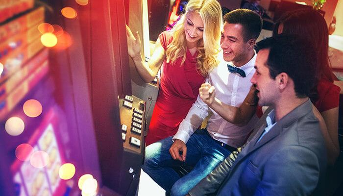 People Gambling in Las Vegas Casino
