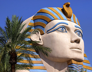 Egyptian Head at Luxor Hotel