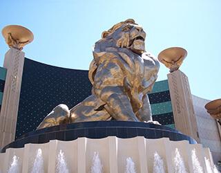 Lion Status at MGM Grand Hotel in Las Vegas