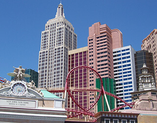 New York New York Hotel Rollercoaster