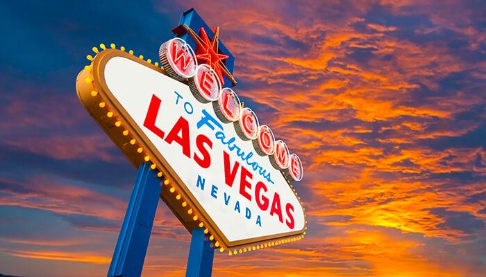 Las Vegas Sign at Sunset