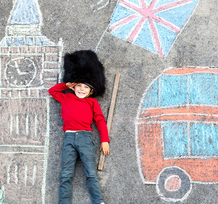 Child in a guards hat