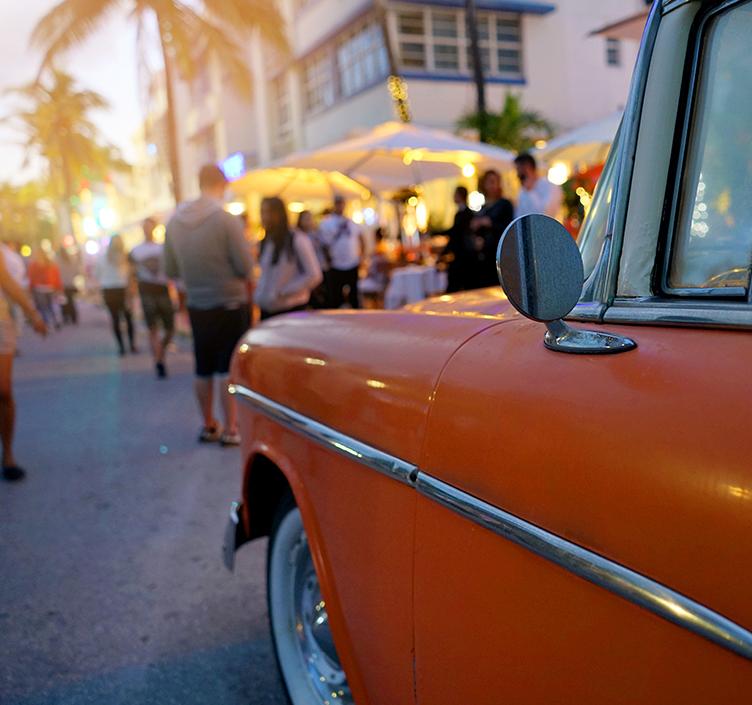 Classic car in Miami
