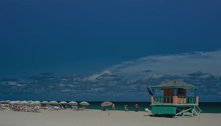 Beach Hut on Miami South Beach