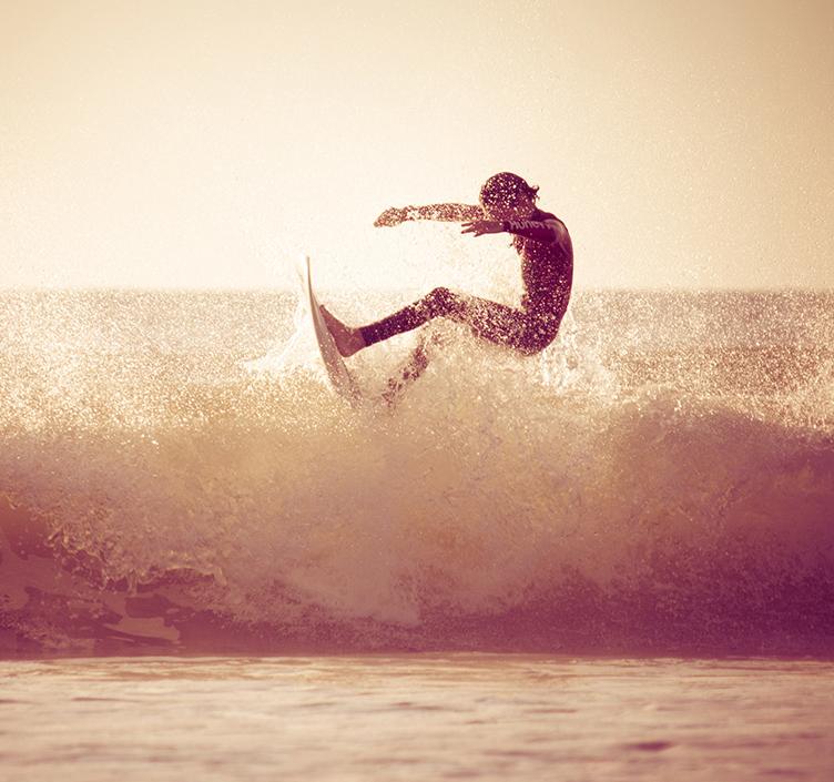 Winter surfing in Miami