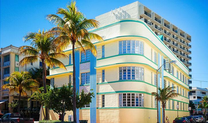 Edificio del distrito Art Deco de Miami