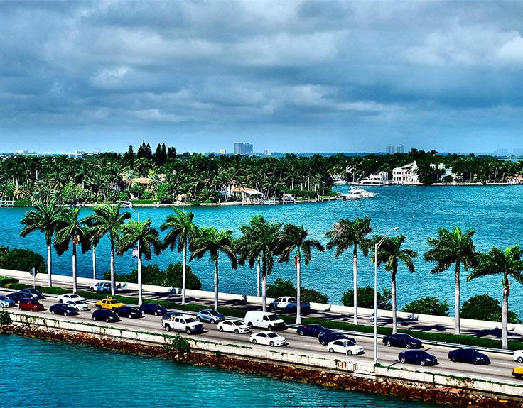 MacArthur Causeway in Miami