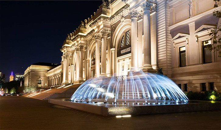 The Met in New York by night