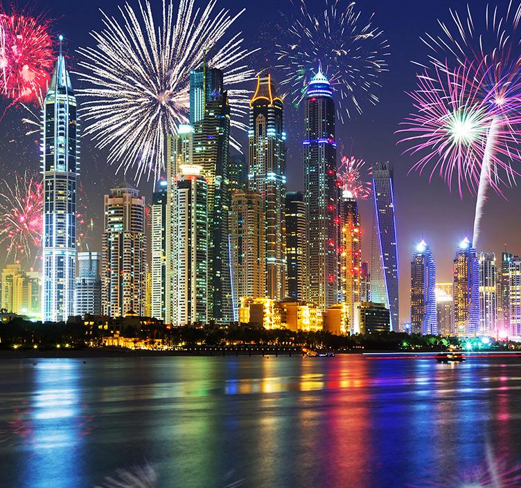 Fireworks over Dubai