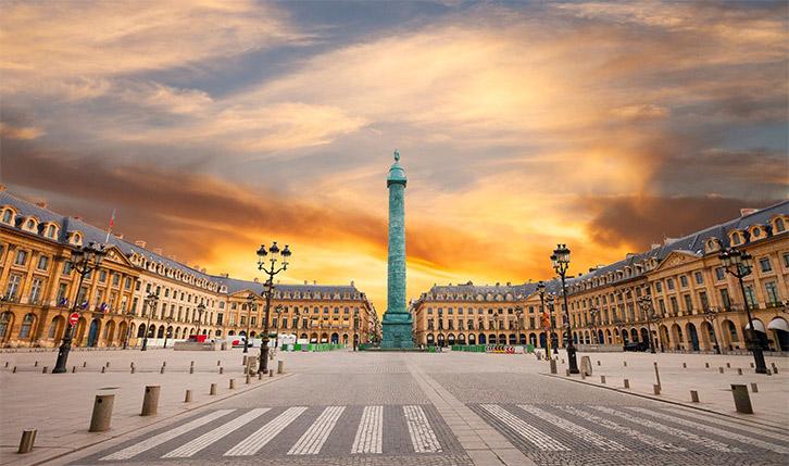 La place Vendôme à Paris