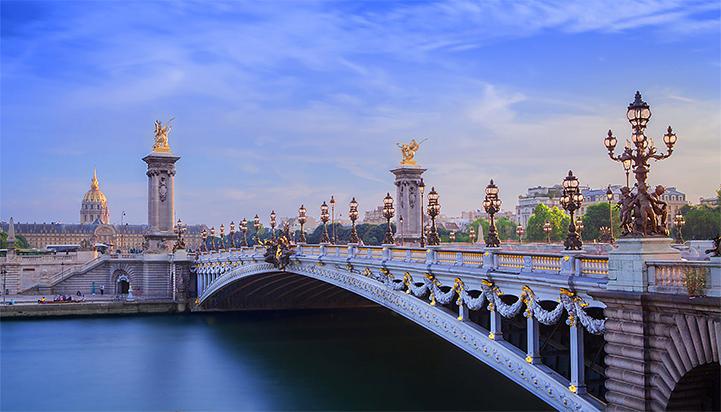 The Pont Alexandre in Paris