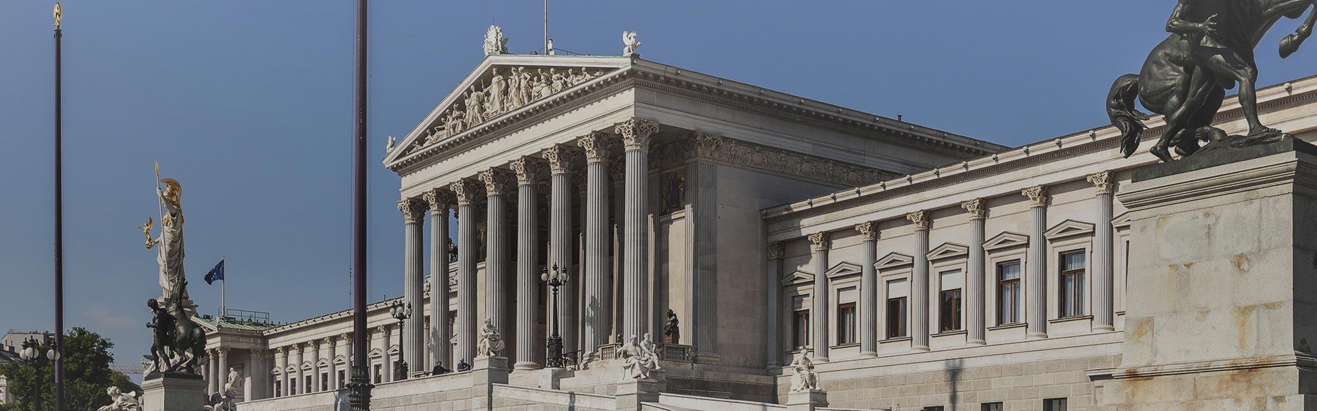 Parliament building in Vienna