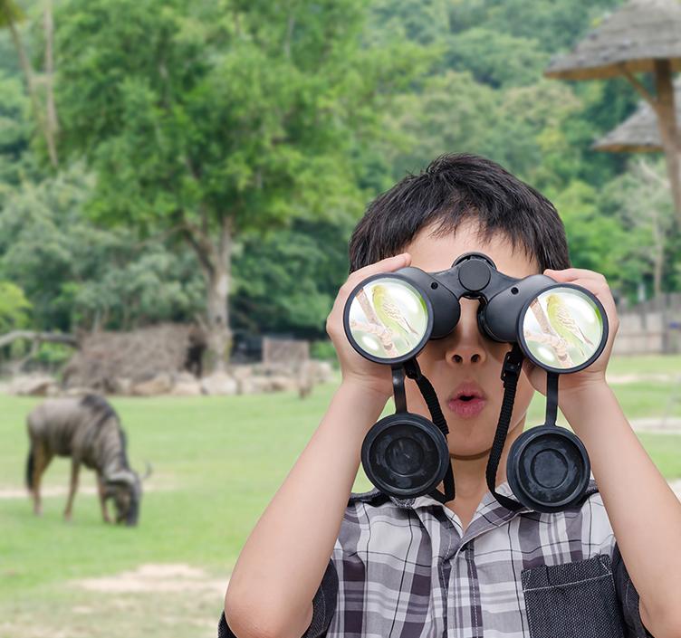 Child taking photo at Philadelphia Zoo