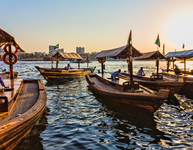 Abra boats on the Dubai Creek