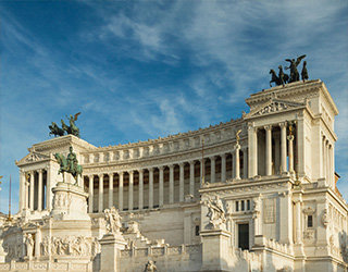 Piazza Venezia and Altare in Rome
